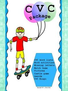 CVC Word and Picture Card Activities/ Games Package