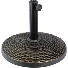 Umbrella Base Wicker round Powder-coat finish Outdoor Portable Weather resistant #Generic