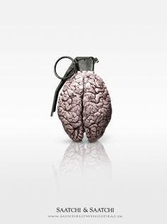Creative work by Patrick Ackmann Ads Creative, Creative Posters, Creative Design, Clever Advertising, Advertising Design, Brain Art, No Photoshop, Photoshop Keyboard, Photoshop Ideas