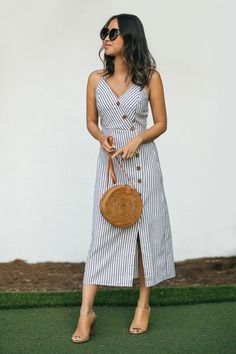 Morning Lavender Button Down Midi Dress Summer Outfits Women, Trendy Outfits, Cute Outfits, Summer Dresses, Cute Dresses, Casual Dresses, Fashion Dresses, Moda Petite, Petite Fashion