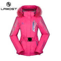 97.96$  Buy now - http://alika2.shopchina.info/go.php?t=32795358391 - LAMOST Women Snow Winter fur Ski Jacket Waterproof Windproof Warm Skiing Jackets Snow Winter Outdoor Sport Coat high quality   #buyonline