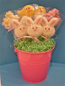 White Chocolate Easter Lollipops