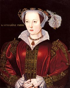 Katherine Parr, Queen of England    Katherine Parr's iconic portrait, attributed to the artist William Scrots. This was painted circa 1545, probably from life, when she was about 32 years old.