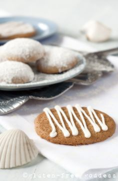 Lemon Iced Ginger Thins (originally created for Allergic Living magazine by Karina Allrich)  Gluten-Free Dairy-Free