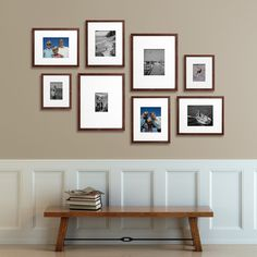 Awesome wall gallery theme for Thanksgiving! These Change of Art frames make swapping the images so easy, love the idea of having a Thankful wall! Photowall Ideas, Gallery Wall Layout, Gallery Walls, Picture Arrangements, Frames On Wall, White Frames, White Framed Art, Art Frames, White Picture Frames