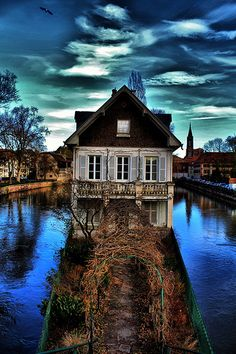 Strasbourg, France. This reminds me of the house in the dream within the dream within the... you know... in Inception? Yup.