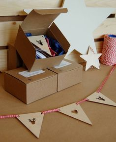 wooden bunting by my blue dog | notonthehighstreet.com