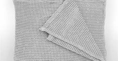 Grove 250 x 260cm 100% Cotton Stonewashed Waffle Bedspread, Silver Grey | made.com