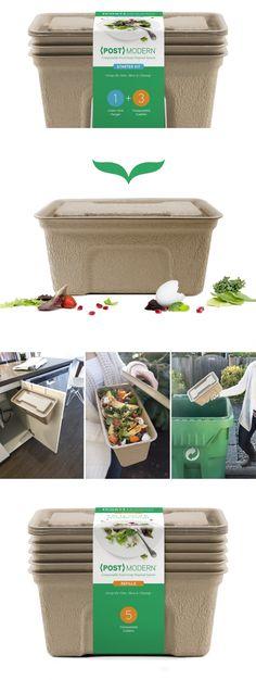 {POST}MODERN Compostable Compost Bin — The Dieline - Branding & Packaging Design