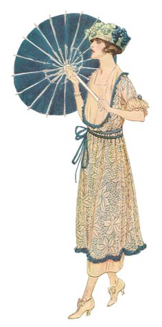 delineator 1917 - Spring fashion,  matching parasol