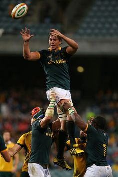 Eben Etzebeth of the Springboks wins a line-out during The Rugby Championship match between the Australian Wallabies and the South African Springboks at Patersons Stadium on September 2014 in. Get premium, high resolution news photos at Getty Images South Africa Rugby Team, South African Rugby, Rugby Sport, Rugby Men, Anthony Kiedis, Springbok Rugby Players, Eben Etzebeth, Go Bokke, Rugby Championship