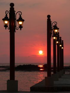 Illuminated Sunset at Byblos, Lebanon by Alan Shipley