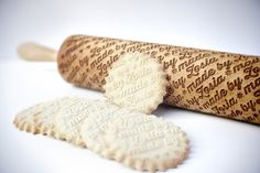 Polish designer Zuzia Kozerska uses a laser engraver to engrave custom designs into wooden rolling pins. In addition to being pleasing to the eye, the engravings will imprint custom patterns into d...