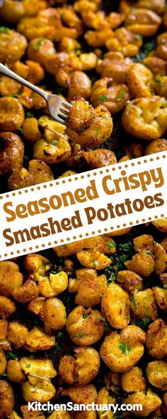 These beautifully seasoned crispy smashed potatoes are a side dish with a bit of a difference. Easy to prepare (no peeling needed!) we're taking baby new potatoes to a whole new level. They're lovely and fluffy on the inside with lots of crispy, crunchy edges. Crispy Smashed Potatoes, Side Dishes, Side Dish