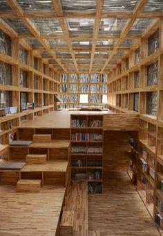 Trendy home library wood bookshelves ideas Home Library Rooms, Home Library Design, Interior Design Living Room, Attic Design, Room Interior, Library Bedroom, Attic Library, Design Desk, Attic Office