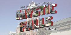postcard Mystic Falls, Buick Logo, Vampire Diaries, Virginia, School, The Vampire Diaries