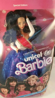 Unicef Barbie 1989 issue NRFB by Blissfulcollectables on Etsy