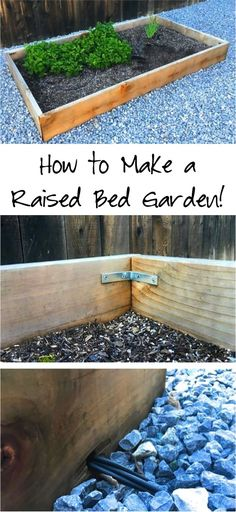DIY Raised Bed Garden Tutorial! Are you in the mood to do some gardening this year? Check out this easy tutorial for how to make Raised Bed Gardens!
