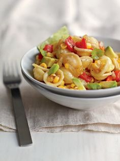 Roasted Pepper–Corn Pasta Salad The vegetables in this salad provide plenty of fiber, so here's one recipe where we don't call for multigrai...