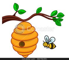 bee hive clip art | illustration of isolated beehive branch stock vector clipart, Vector ...