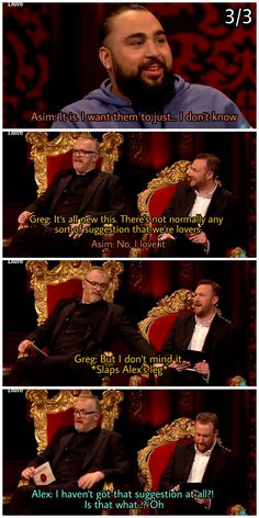 Taskmaster outtakes: part 3 British Humour, British Comedy, Greg Davies, Love Games, Hilarious, Funny, Tv Series, Tv Shows, Humor