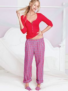 The Dreamer Henley Pajama size Medium, Long on the bottoms length Pajamas All Day, Silk Pajamas, Pajamas Women, Lingerie Models, Women Lingerie, Pink Outfits, Sexy Bra, Lingerie Sleepwear, Everyday Fashion