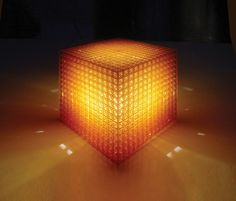 MGX by Materialise 3D printed OpenCube table light.Join the 3D Printing Conversation: http://www.fuelyourproductdesign.com/