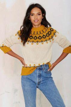 Joa Malia Mock Neck Sweater