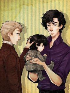 Parentlock. Sherlock looks sooo amused