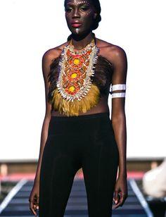 Dasha on the runway at MTN Lagos Fashion Week- Anita Quansah London/Nigeria $1,200.00