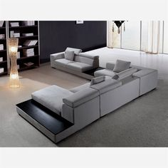 Modern Sectional Sofa Grey Microfiber Vg Fort 16 Fabric with measurements 1100 X 799 Contemporary Microfiber Sectional Sofas - The majority of us enjoy