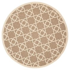 Belfast Round 6'7 Outdoor Rug - Brown / Beige - Safavieh