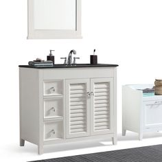 Enthralling Bathroom Simpli Home Ariana 36 Left Offset Single Vanity Set In  With Sink ...