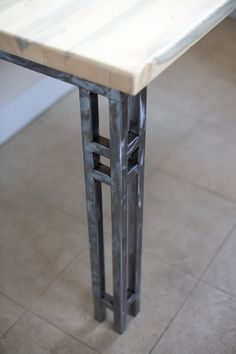 Hand forged iron table!  Visit stonecountyironworks.com for more amazing wrought iron designs!