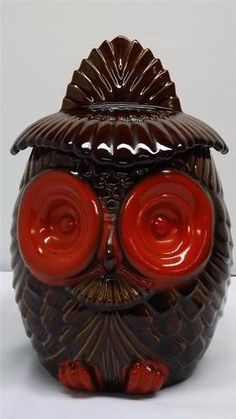 Image detail for -New and Used Vintage Haeger Pottery USA Owl Cookie Jar Canister Brown . Cookie Jars, Lamp Bases, Canisters, True Love, Owls, Vases, Pepper, Biscuits, Tea Pots