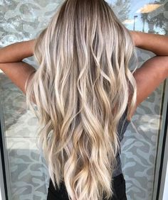 Marvelous Yes yes yes! Are you looking for hair color blonde balayage and brown for fall winter and summer? See our collection full of hair color blonde balayage and brown an . Cool Blonde Balayage, Cool Blonde Hair, Brown Blonde Hair, Blonde Color, Blonde Ombre, Ombre Hair, Blonde Balyage, Blonde Waves, Blonde Long Hair