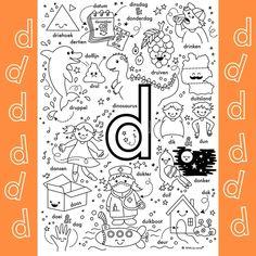 Letter School, Letter D, Inspiration For Kids, Diy For Kids, Spelling, Einstein, 3 D, Nostalgia, Bullet Journal