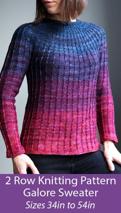 Galore pattern by Stephanie Earp – Knitting patterns, knitting designs, knitting for beginners. Sweater Knitting Patterns, Arm Knitting, Knitting Designs, Knit Patterns, Knitting Projects, Double Knitting, Crochet Patterns For Beginners, Knitting For Beginners, Lang Yarns