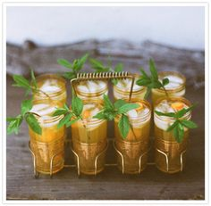 mint and orange cocktails