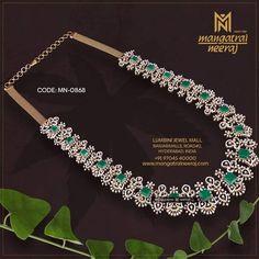 Diamond Earrings Indian, Diamond Jewellery, Emerald Diamond, Gold Earrings Designs, Necklace Designs, Jewellery Designs, Emerald Jewelry, Gemstone Jewelry, Gold Jewelry