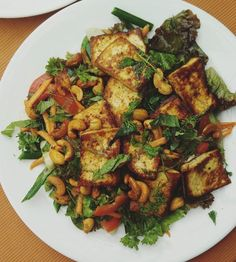 Paneer Toasted Salad at Sri Restaurant in Vagator, Goa   #travel #food #blogger