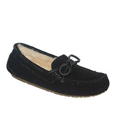 Look what I found on #zulily! Black Comfy Moccasin #zulilyfinds