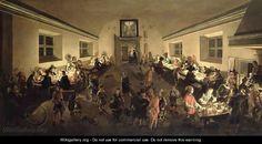 Interior of an Inn with men dining - Wolfgang Heimbach