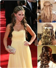 loose wave half up and half down ombre hairstyle with ombre color hair extension clip on