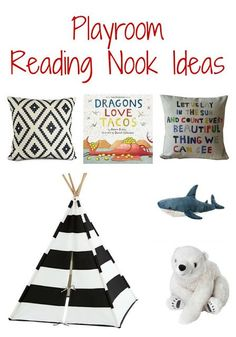 Fun Ideas for Creating A Reading Nook in the Playroom.