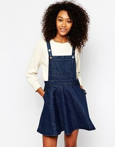 Loving pinafore dresses at the moment and this denim version by Monki will be one of your new wardrobe staples. http://asos.to/1s35Z5H