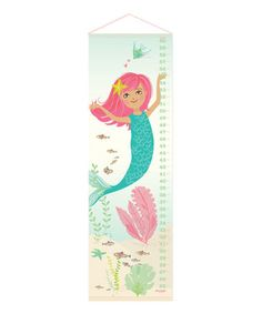 Look at this #zulilyfind! Mermaid Growth Chart #zulilyfinds @llahnoraa