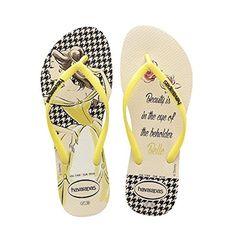 fd06b4b33ad6 Womens Slim Princess Flip Flops - Beige yellow - CG1266937GJ
