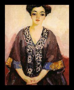 Kees van Dongen, Femme au kimono (Portrait de Adèle Besson), 1910