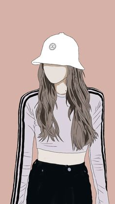 Lisa Blackpink Wallpaper, Cute Girl Wallpaper, Kawaii Wallpaper, Cute Wallpaper Backgrounds, Aesthetic Drawing, Aesthetic Art, Cover Wattpad, Cute Couple Art, Girly Drawings